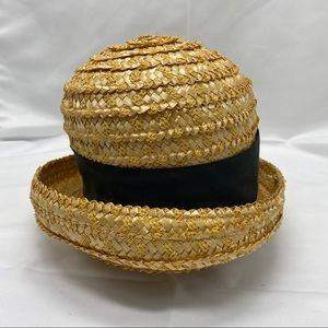 Vintage Straw Hat with Union Tags Made in USA